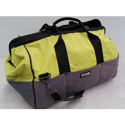 Ryobi Tool Bag with Ryobi Tools