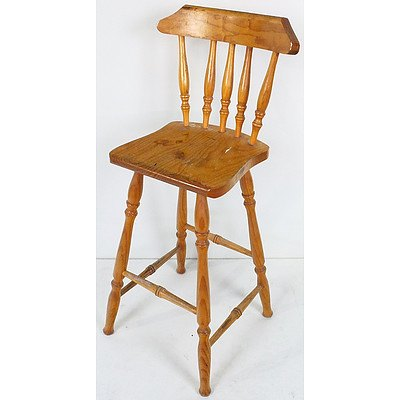 Rustic Pine Kitchen Stool
