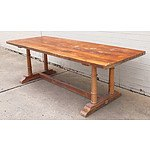 Vintage Substantial Recycled Kauri Pine Refectory Table