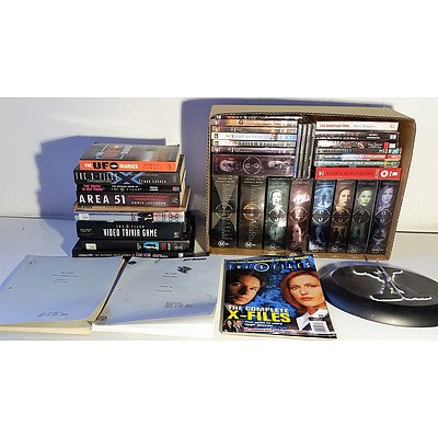 2 Box Lot of X-Files DVD, Books, and other Literature worth more than $1000.00