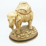German Painted Porcelain Elephant