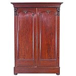 Large and Nicely Fitted Victorian Flame Mahogany Wardrobe Circa 1880