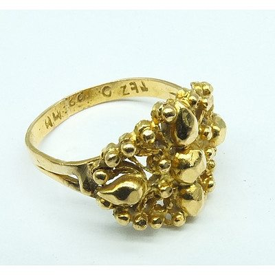 22ct Bright Yellow Gold Indian Style Ring