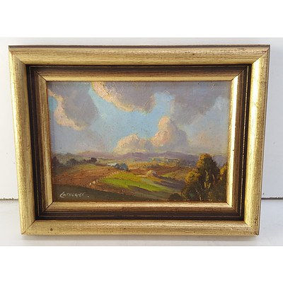 Norman Cathcart (Born 1909) Victorian Country Scene Oil on Board