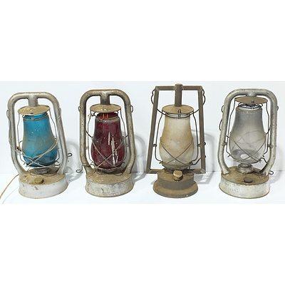 Four Oil Lamps