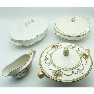 Group of English China Including Royal Worcester, Myott Son & Co and Johnson Bros