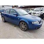 5/2004 Audi A4 2.0 B6 4d Sedan Blue 2.0L