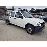 6/2006 Holden Rodeo RA Crew Cab/chas White 2.4L