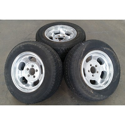 Set of 4 14inch Alloy Rims with Intensa Sava Tyres for EH Holden