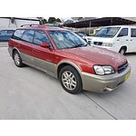 2/2000 Subaru Outback Limited MY00 4d Wagon Red/Gold 2.5L