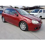 8/2004 Volkswagen Golf 2.0 FSI Sportline 1K 5d Hatchback Red 2.0L