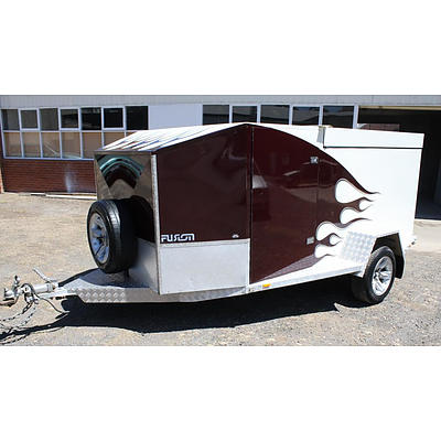 Custom Built Fully Enclosed Motor Cycle Trailer