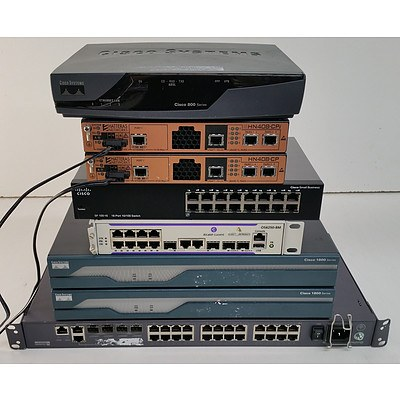 Cisco, Huawei & Hatteras Ethernet Switches and Routers - Lot of Eight