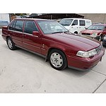 10/1995 Volvo 960  4d Sedan Maroon 3.0L