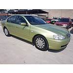 10/2004 Ford Fairmont  BA MKII 4d Sedan Green 4.0L