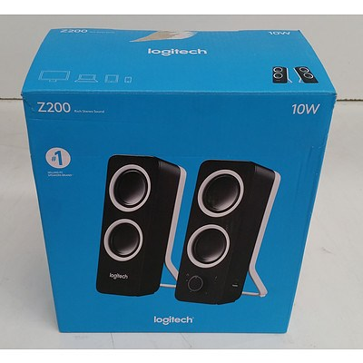 Logitech Z200 Stereo Sound PC Speakers
