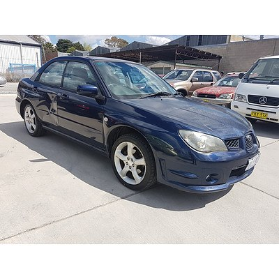 9/2005 Subaru Impreza 2.0i (awd) MY06 4d Sedan Blue 2.0L