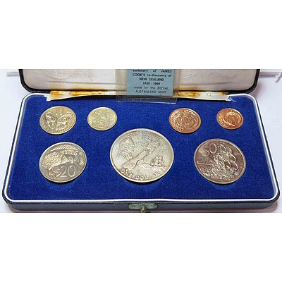 NZ PROOF Set 1969 Cook Commemorative