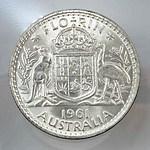Australian Silver Florin 1961
