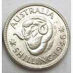 Australia Silver Shilling 1946 Melbourne Mint