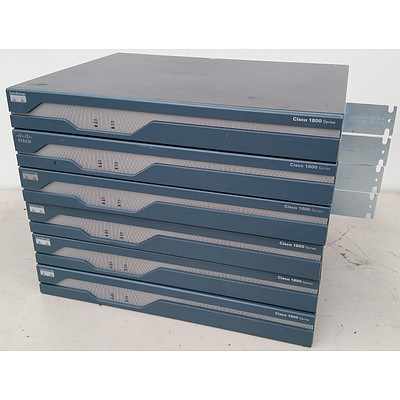 Cisco 1800 Series Routers - Lot of 6