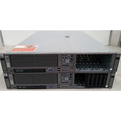 Hp DL380 G5 Dual Dual-Core Xeon 5160 3.0GHz 2 RU Servers - Lot of 2
