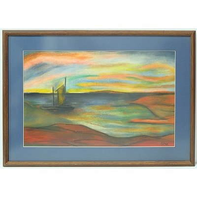 Tina Abstract Pastel on Canvas