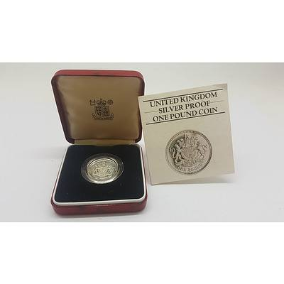 United Kingdom Sterling Silver Proof One Pound Coin