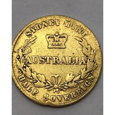 Very Rare 1859 Gold Half Sovereign
