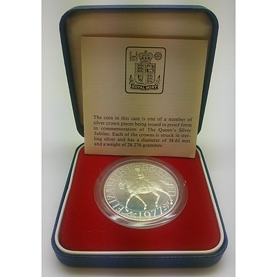 1977 Queen's Silver Jubilee (Crown) Sterling Silver Proof Coin