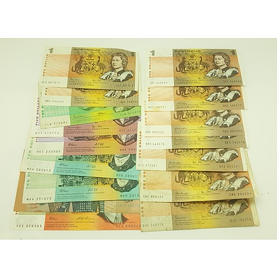 Assorted Australian Paper notes