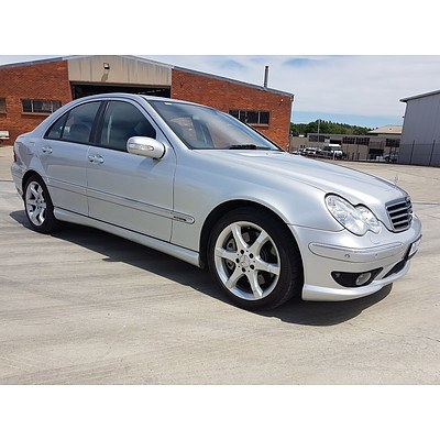 1/2007 Mercedes-Benz C180 Kompressor Super Sport Edition W203 MY07 UPGRADE 4d Sedan Silver 1.8L