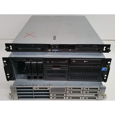 Dell, Sun MicroSystems & SuperMicro Rackmount Servers - Lot of Four