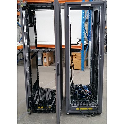Sun MicroSystems Wheeled Server Rack - Lot of Two