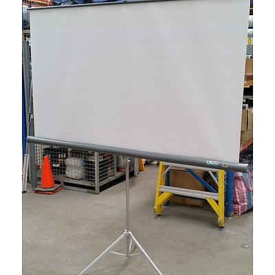Gilkon Portable Projector Screens - Lot of Two