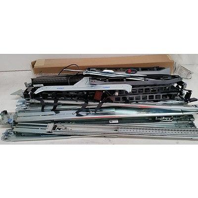 Bulk Lot of Assorted Rack Rails & Parts