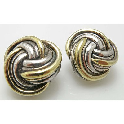 "Vintage Sterling Silver """"d'Argent"""" Earrings"