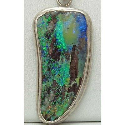 Huge Boulder Opal Pendant