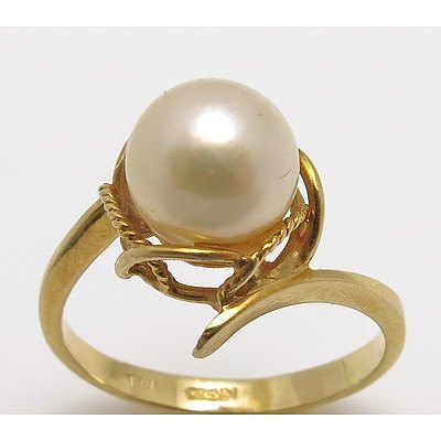 14ct Gold Pearl Ring