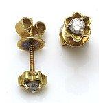 18ct Gold Round Brilliant-cut Diamond Earrings