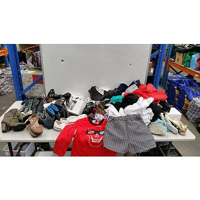 Bulk Lot of Unisex Shoes and Childrens' Clothes
