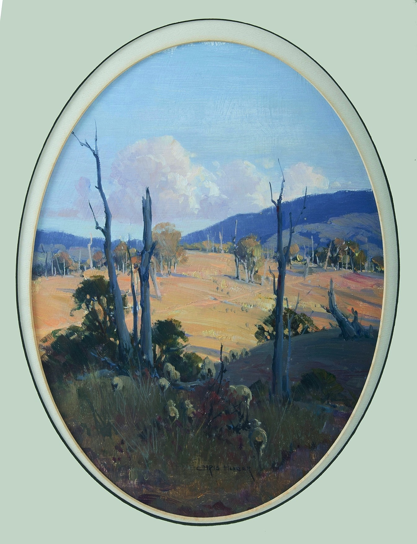 'HUBER, Christine (b.1936): Afternoon Light Oil on Board'