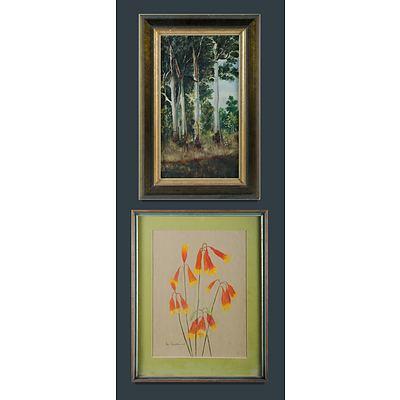 Australian School (2): Ida BRUCHHAUSER (1916-2003) & Artist Unknown Pastel