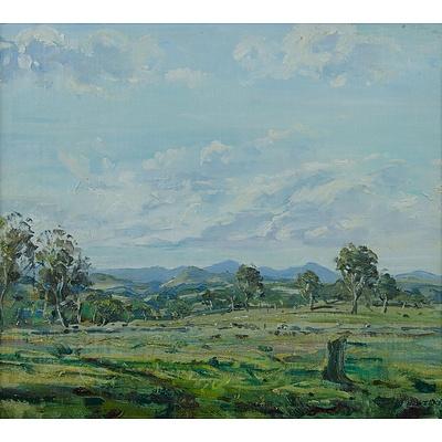 WEEKES, N: Australian Pastoral View Oil on Canvas Board
