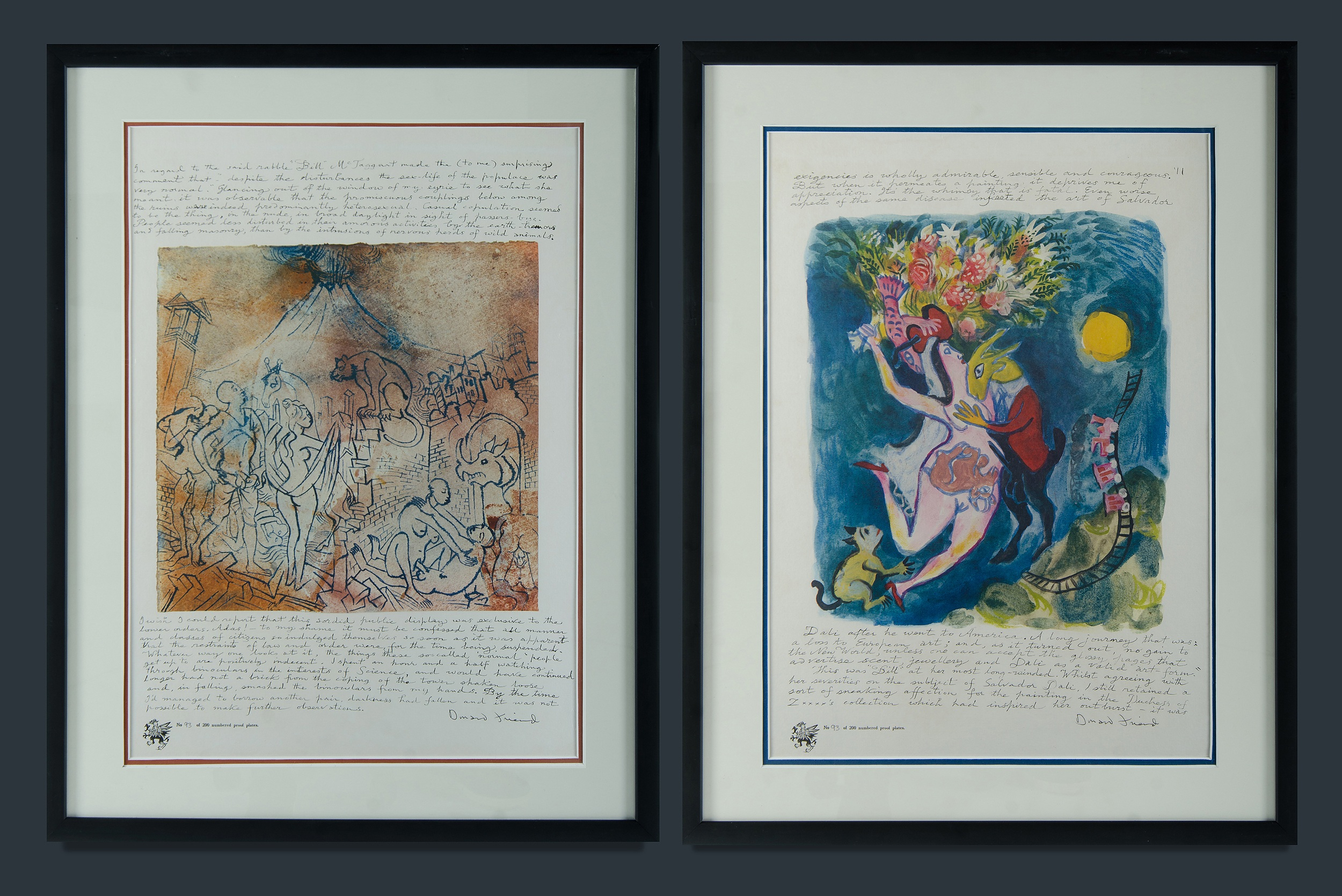 'FRIEND, Donald (1915-1989): Two Pages from Bumbooziana. Lithographs 93/200'