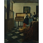 Johannes Vermeer (1632-1675): 'The Music Lesson' Reproduction Print