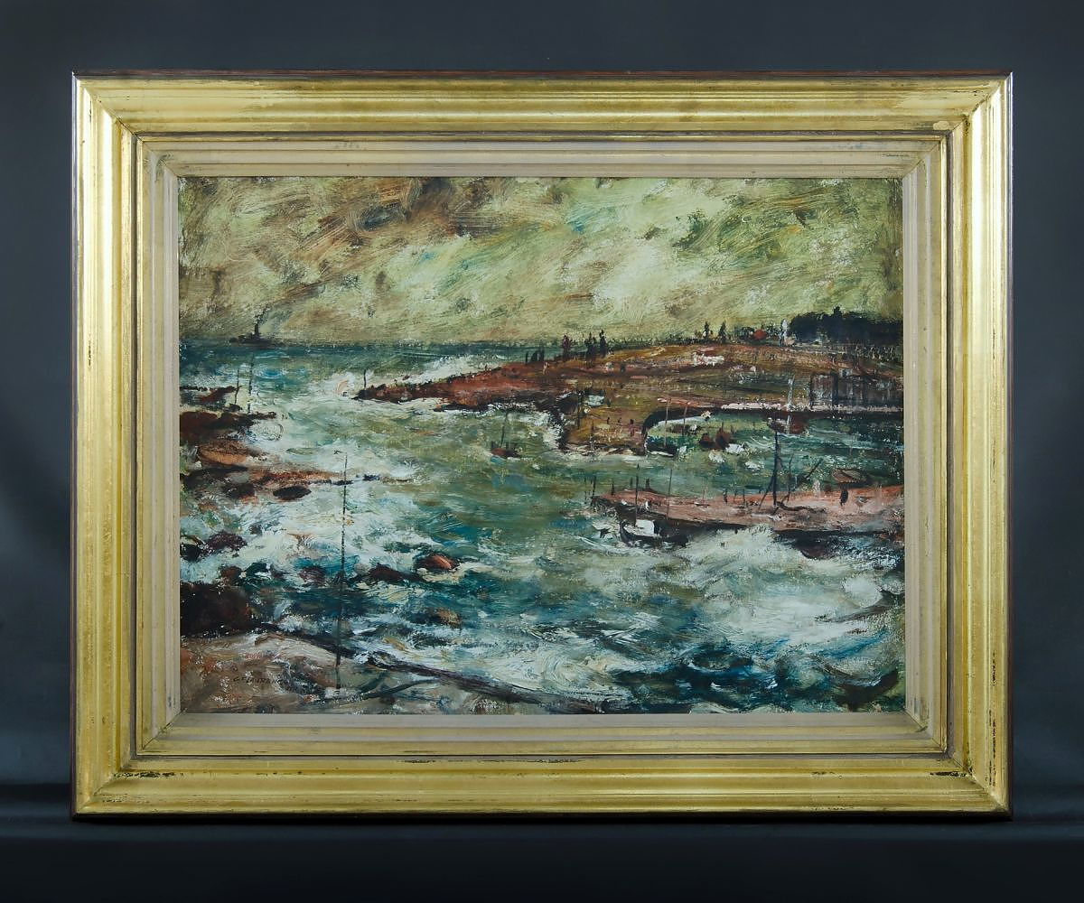'LAWRENCE, George Feather (1901-1981) Impression of Storm, Kiama, 1961 Oil on Board'