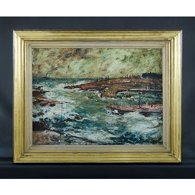 LAWRENCE, George Feather (1901-1981) 'Impression of Storm, Kiama,' 1961 Oil on Board