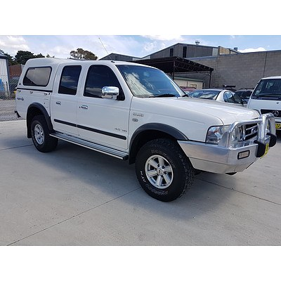 12/2005 Ford Courier XLT (4x4) PH Crew Cab P/up White 4.0L