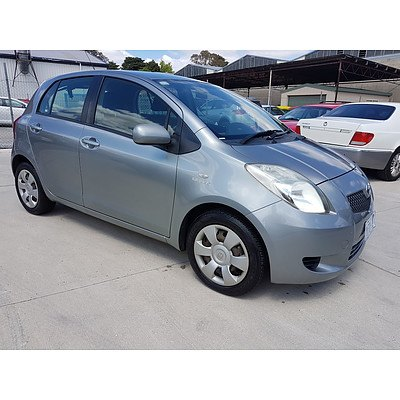 2/2007 Toyota Yaris YRS NCP91R 5d Hatchback Grey 1.5L